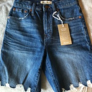 Madewell High rise mid length shorts